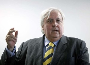 When he's not talking about robotic dinosaurs and the Titanic II, Clive Palmer almost sounds rational. Almost.  Source: smh.com.au